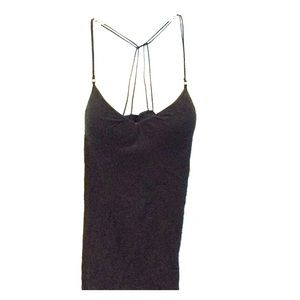 LEI black molded cup tank top